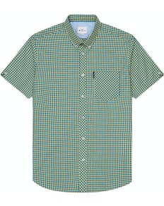 Ben Sherman Signature Short Sleeve Gingham Shirt Yellow
