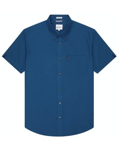 Ben Sherman Oxford Short Sleeve Shirt Airforce Blue