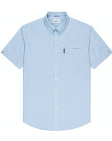 Ben Sherman Oxford Short Sleeve Shirt Sky Blue