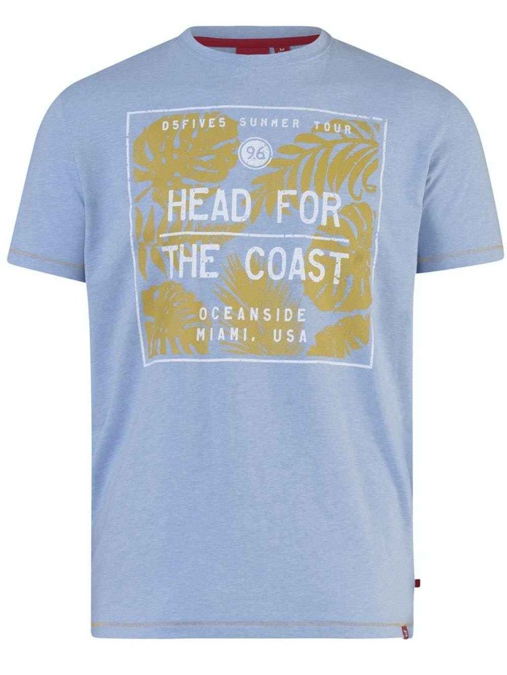 D555 Arizona Printed T-Shirt Light Blue