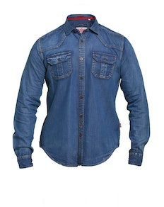 D555 Colwood Vintage Denim Shirt Blue
