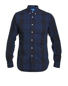 D555 Davenport Check Long Sleeve Shirt Navy