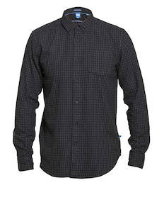 D555 Jared Long Sleeve Check Shirt Black/Petrol