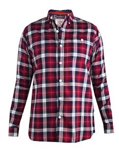 D555 Baltimore Long Sleeve Check Shirt Red