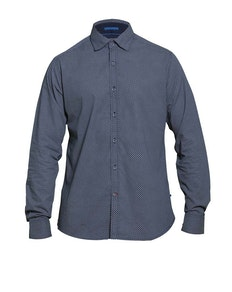 D555 Ayton Long Sleeve Diamond Print Shirt Navy
