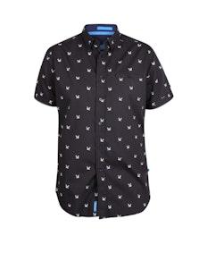 D555 Marley Printed Short Sleeve Shirt Black