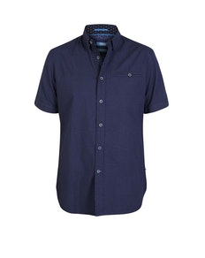 D555 Wesson Printed Short Sleeve Shirt Navy