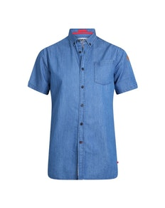 D555 Arnold Denim Short Sleeve Shirt Blue