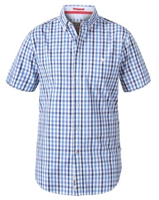 D555 Rowling  Gingham Check Shirt Blue