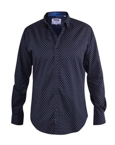 D555 Adelaide Printed Shirt Navy
