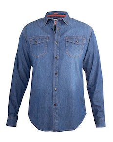 D555 Scotsdale Twin Pocket Long Sleeve Vintage Denim Shirt