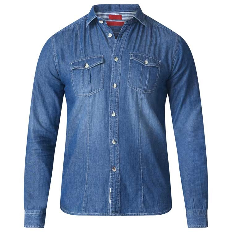D555 Adcock Denim Shirt Blue