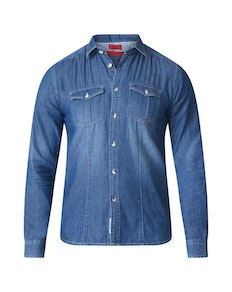 D555 Adcock Denim Shirt Blue Tall