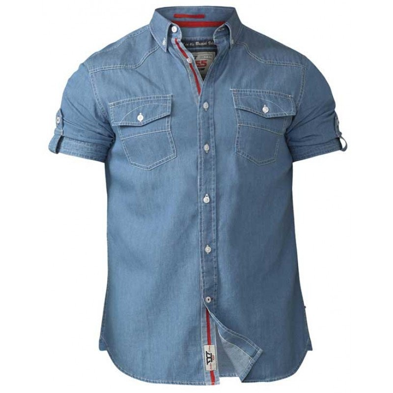 D555 Nathan Twin Pocket Shirt Denim Tall