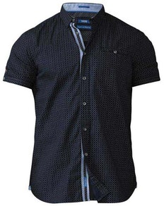 D555 Republic Micro Line Geometric Print Shirt Navy Tall
