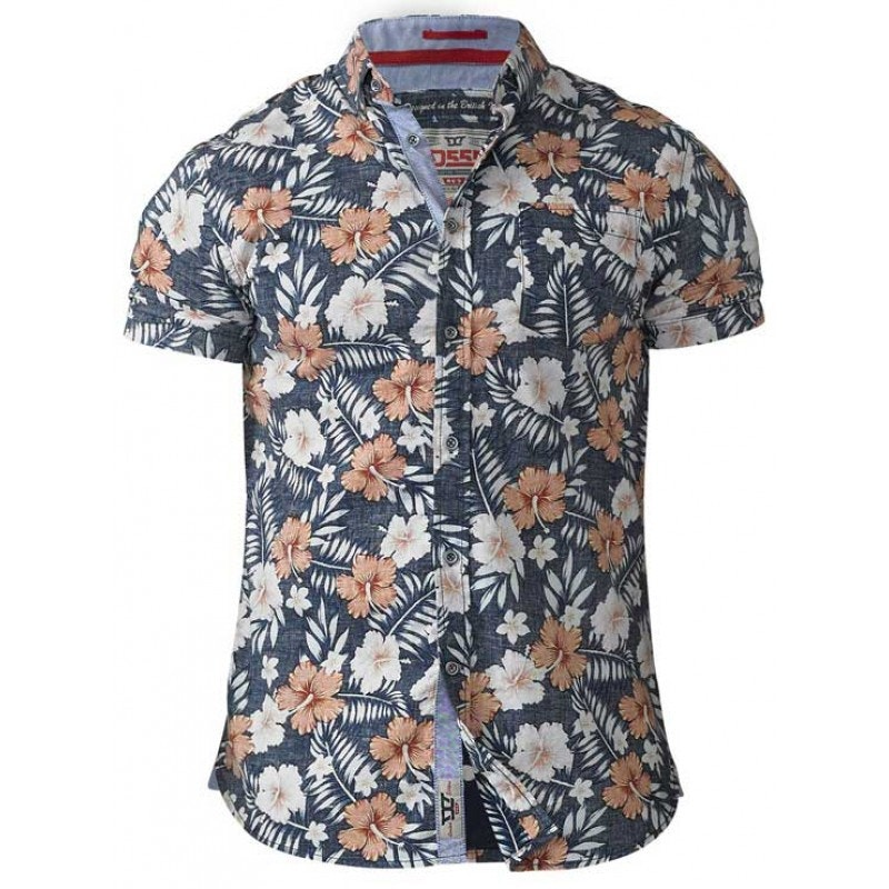 D555 Huxley Hawaiian Print Shirt Tall