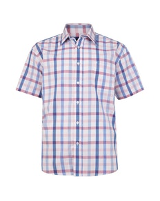 Cotton Valley Short Sleeve Check Shirt Pink