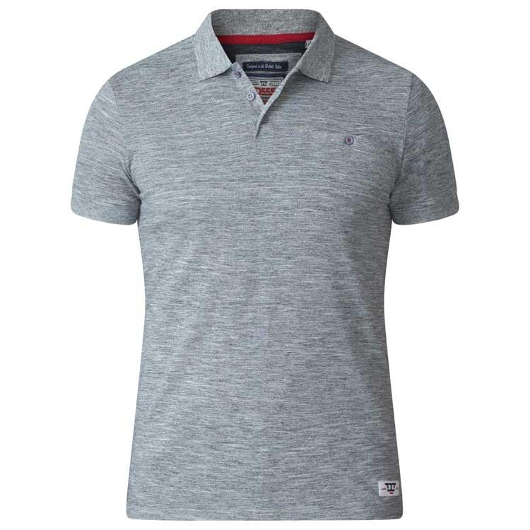 D555 Dunstan Heavy Slub Polo Shirt Grey