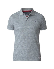 D555 Dunstan Heavy Slub Polo Shirt Grey Tall