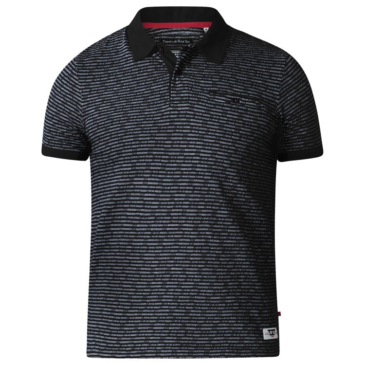 D555 Flozell Polo Shirt Black