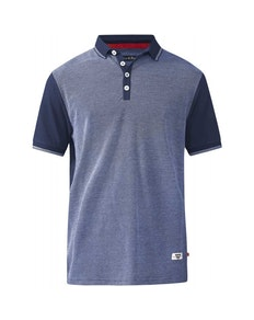 D555 Cecil Jaquard Polo Navy Tall