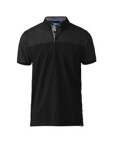 D555 Jauram Polo Shirt Black Tall
