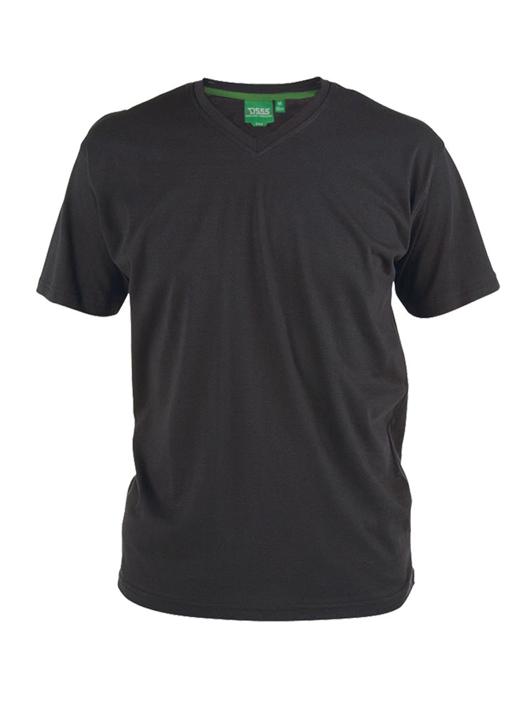 D555 Premium V -Neck T-Shirt Black