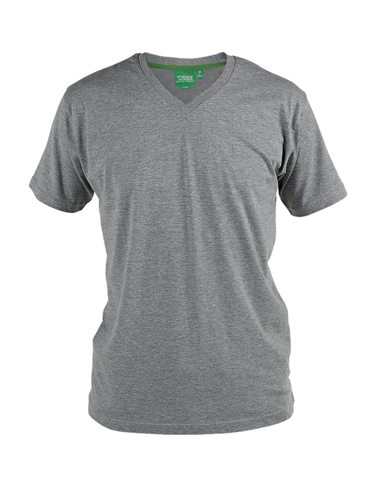 D555 Premium V -Neck T-Shirt Grey