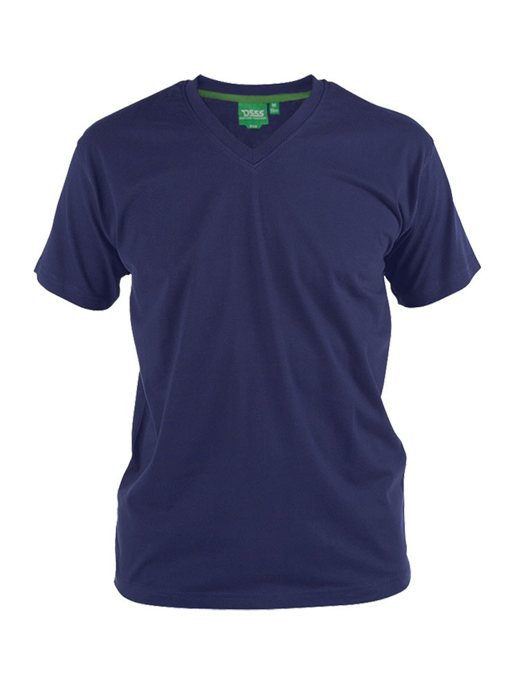D555 Premium V -Neck T-Shirt Navy