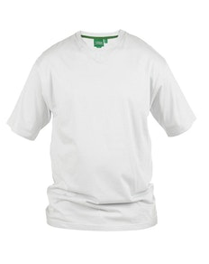 D555 Premium V -Neck T-Shirt White