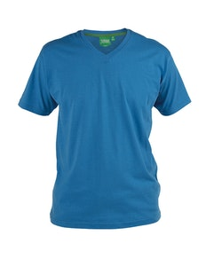 D555 Premium V -Neck T-Shirt Blue