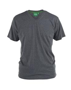 D555 Premium V -Neck T-Shirt Charcoal