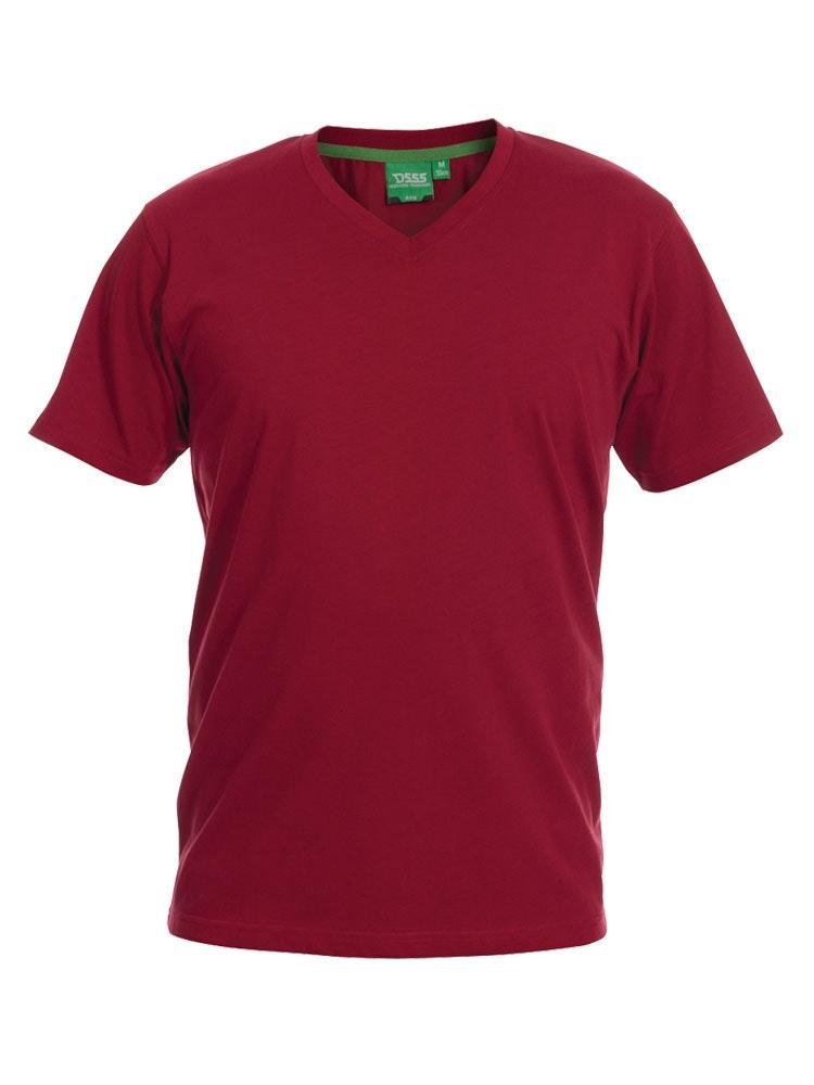 D555 Premium V -Neck T-Shirt Red