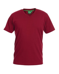 D555 Premium V -Neck T-Shirt Red
