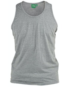 D555 Pure Cotton Muscle Vest Grey