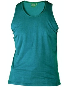 D555 Pure Cotton Muscle Vest Teal