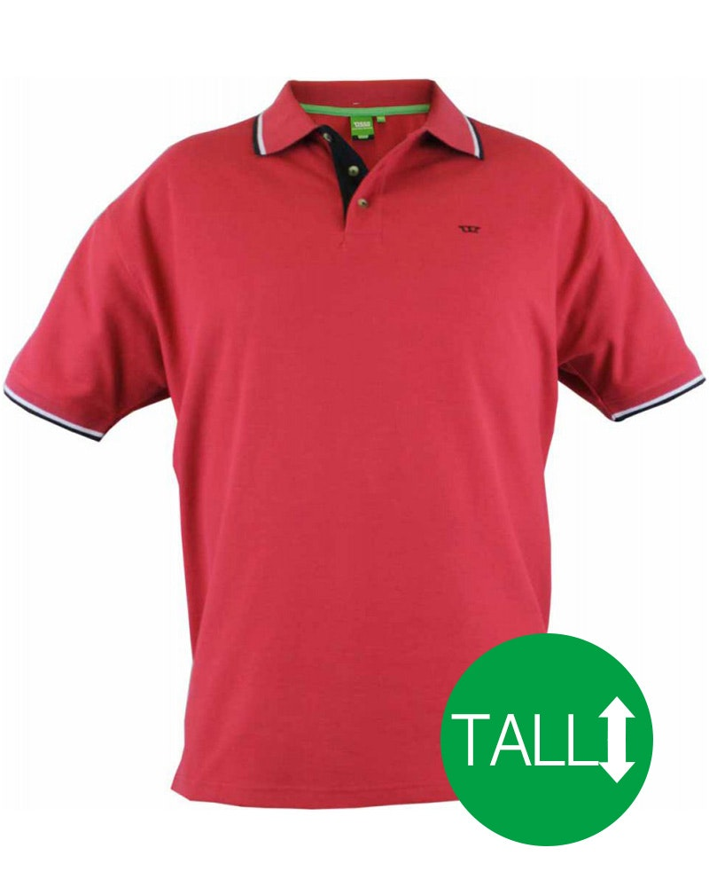 D555 Racer Red Polo Shirt