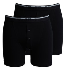 Jockey 2 Pack Boxer Trunk Black