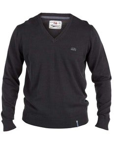 Duke Black V Neck Sweater