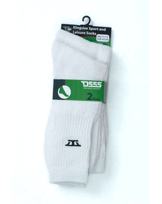 D555 Logan Sports and Leisure Socks White