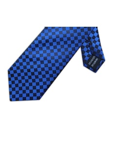 Knightsbridge Extra Long Squares Tie Royal Blue
