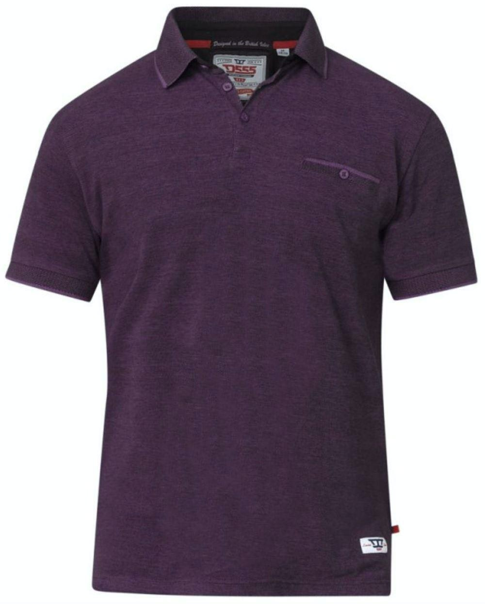 D555 Brell Polo Shirt Blackberry