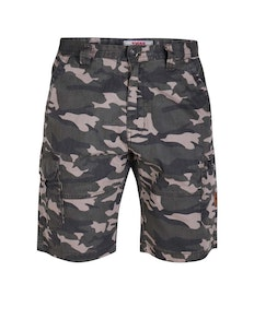 D555 Chadwick Camouflage Cargo Shorts Green