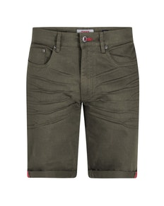 D555 Gilbert Stretch Canvas Shorts Khaki