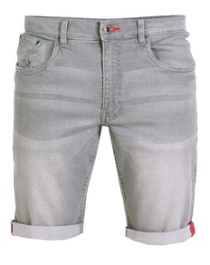 D555 Griffin Stretch Denim Shorts Grey