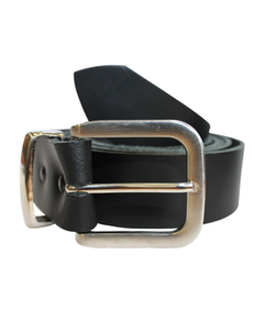 John King Exeter Leather Belt Black