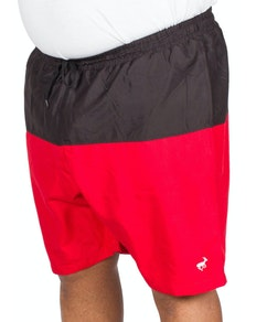 Bigdude Cut & Sew Swim Shorts Black/Red