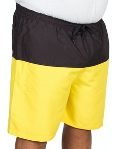 Bigdude Cut & Sew Swim Shorts Black/Yellow