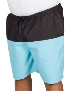 Bigdude Cut & Sew Swim Shorts Black/Light Blue