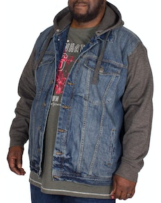 KAM Miguel Jersey Sleeve Denim Jacket